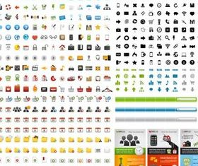 Icons Mix graphic 2 creative vector
