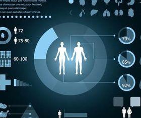 Medical Infographic art vector set