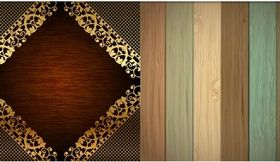 Wood Backgrounds design vectors
