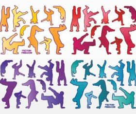 Urban Dancers vector