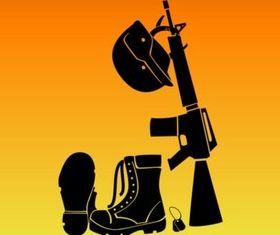 Soldiers Battle Gear vector graphics