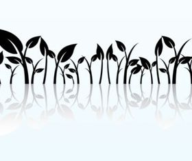 Reflected Plant Graphics vector