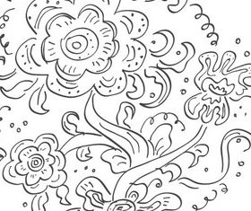 Russian Floral Pattern shiny vector