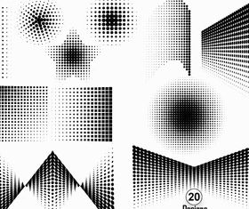 Halftone Elements Free vector