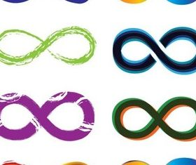 Infinity Color Logo graphic vector graphic