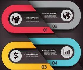 Infographics Backgrounds 5 vectors