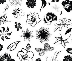 Ornate Floral Elements (Set 16) shiny vector