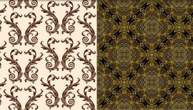 Stylish Damask Patterns 2 vector