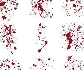 Blood Splatter Illustrator Free vector