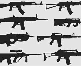 Free Weapons Illustrator Pack-1 vector design