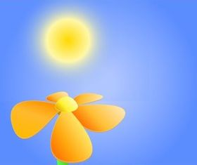 Flower Under Sun Image vector
