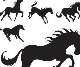 Wild Horses Templates vector