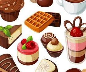 Sweets graphic vector