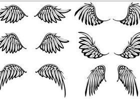 Wings Tatoo free vector
