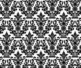 Damask Floral Pattern Free shiny vector