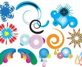 Colorful Swirls and Shapes Free vectors graphic