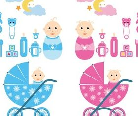 Baby Time Graphics vector