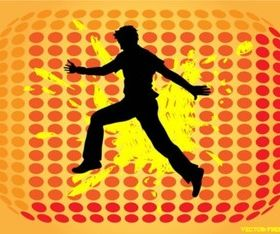 Jumping Man Silhouette vectors