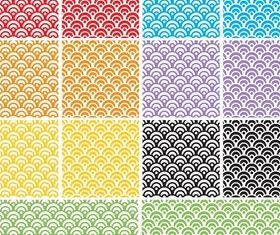 Dragon Scales Seamless Pattern Swatch for Adobe Illustrator vectors material