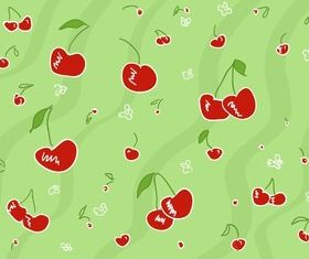 Cherry Pattern Illustration vector