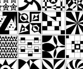 Tile Design Patterns vectors material