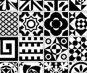 Tile Design Patterns Free vector set