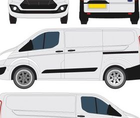 Ford Transit Courier Outline vector