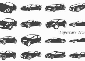 Free Supercars Icons vectors graphic