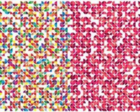 Quarter Circles Pattern Free vector