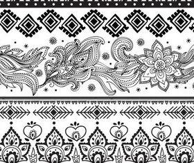 Floral Ornamental Borders art vector material