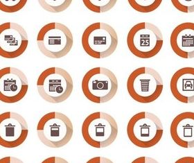 Flat Icons graphic vector set
