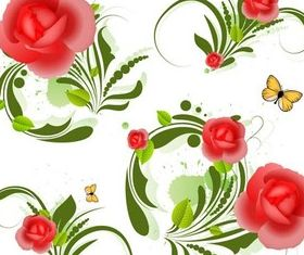 Shiny Flowers Set 1 vector