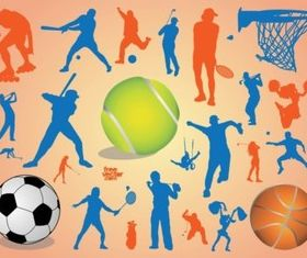 Sport Silhouettes vectors graphic