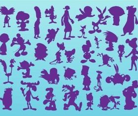 Cartoon Silhouettes vector material