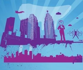 City Theme vector graphics