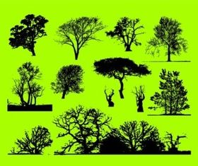 Trees Graphics design vectors