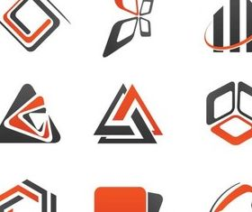 Abstract Style Logotypes 2 vector