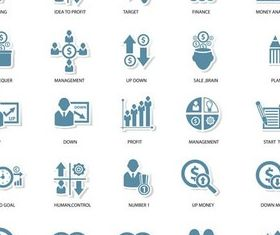 Strategy Icons graphic vector design