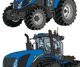 Tractors free vector