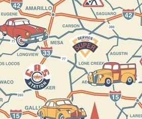 Roads Backgrounds vector