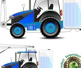 Tractors free design vector