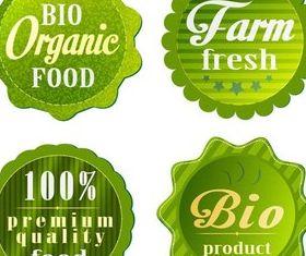 Labels graphic vector design