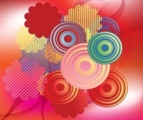 Retro Circles background vector graphics