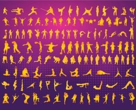 Silhouettes Clipart vector