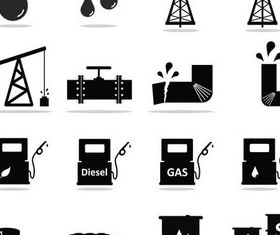 Oil Icons graphic design vectors