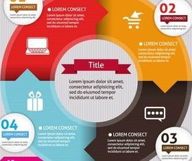 Infographics Backgrounds 3 vectors