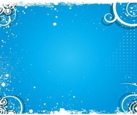 Blue Splash Background vector set