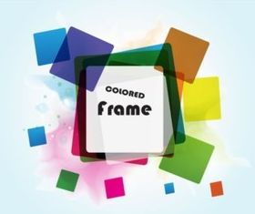 Squares Frame background vector