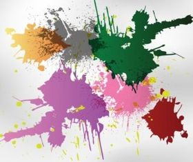 Free Splatters Shapes vector