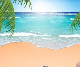 Summer Beach Backgrounds 6 vector